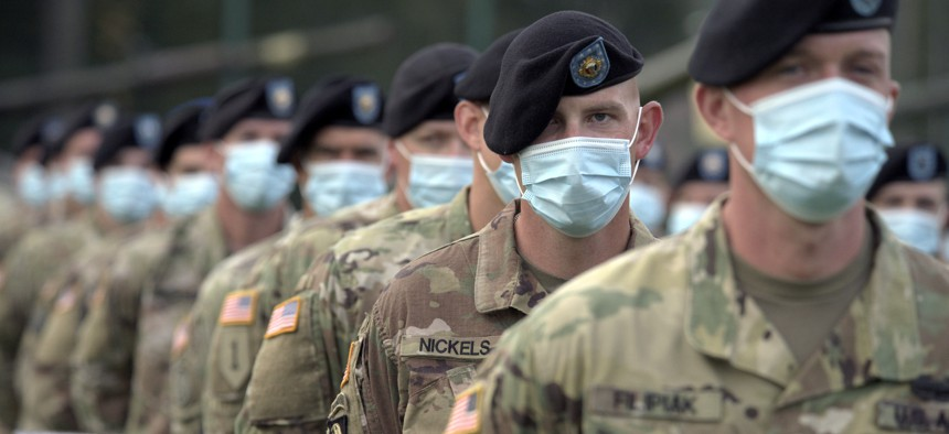 U.S. Army soldiers during Exercise Rapid Trident near Yavoriv, Lviv Region, western Ukraine, on Sept. 17, 2020.