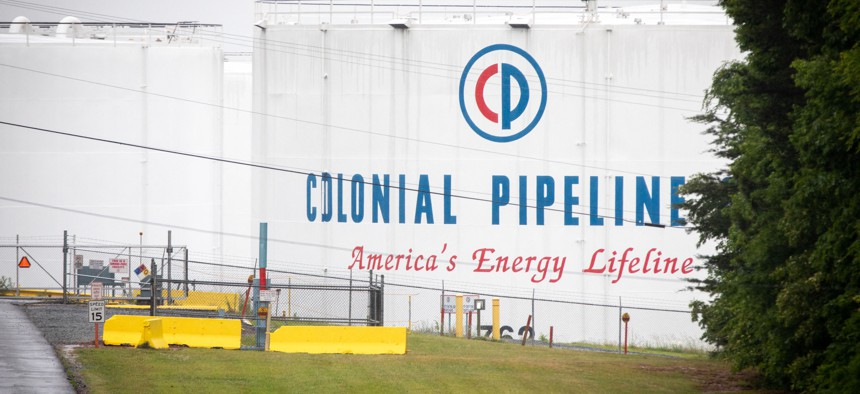 A Colonial Pipeline storage site in Charlotte, North Carolina on May 12, 2021. - Fears the shutdown of the Colonial Pipeline because of a cyberattack would cause a gasoline shortage led to some panic buying and prompted US regulators on May 11, 2021.