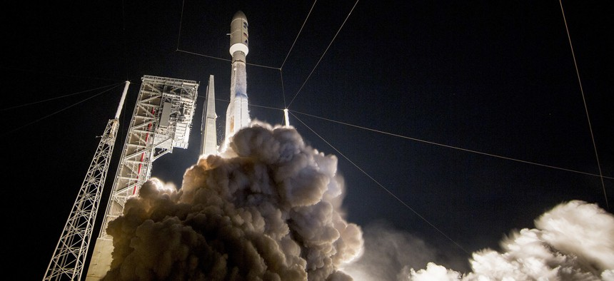 NASA launched its Geostationary Operational Environmental Satellite-R spacecraft aboard a United Launch Alliance Atlas V rocket from Cape Canaveral Air Force Station, Fla., Nov. 19, 2016.