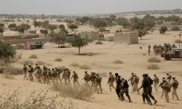 Chadian troops and Nigerian special forces participate with U.S. advisors in an exercise in Mao, Chad, on March 7, 2015.