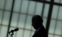 US President Joe Biden speaks to service members at Joint Base Langley-Eustis May 28, 2021.