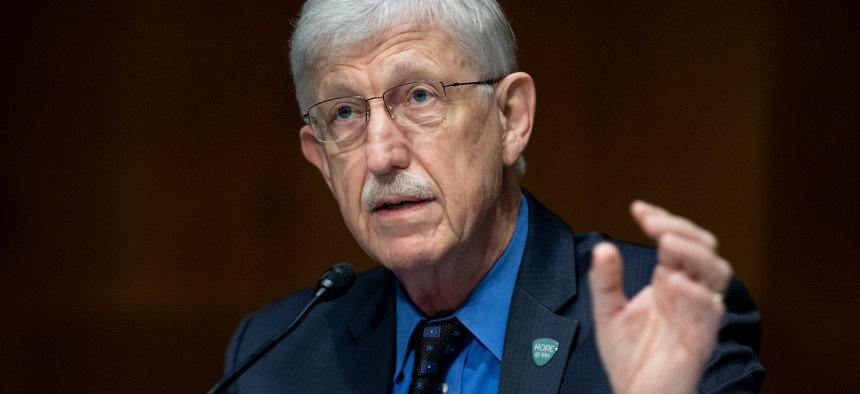 Dr. Francis Collins, Director of the National Institutes of Health (NIH), testifies in July 2020 on the plan to research, manufacture and distribute a coronavirus vaccine.