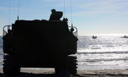 Marines conduct assault amphibious vehicle training during ship-to-shore operations at Camp Lejeune, N.C., Jan. 19, 2017.