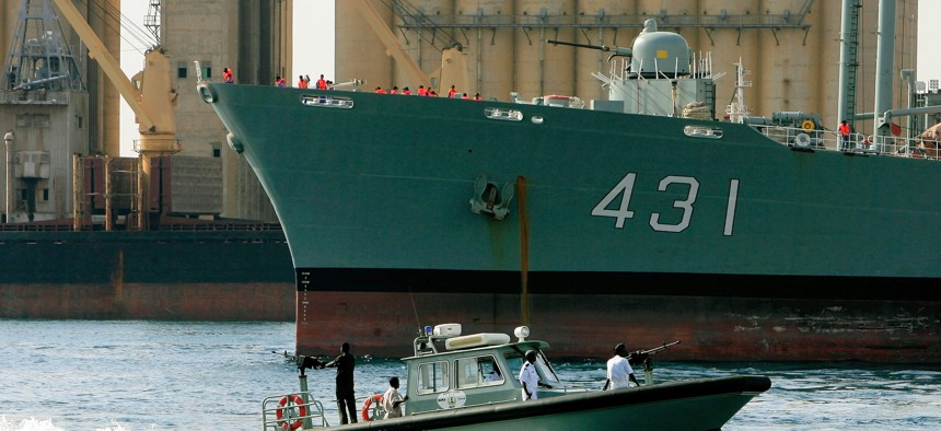 The Iranian Kharg replenishment ship, which caught fire and sank earlier this week, visited a Red Sea port in 2012.