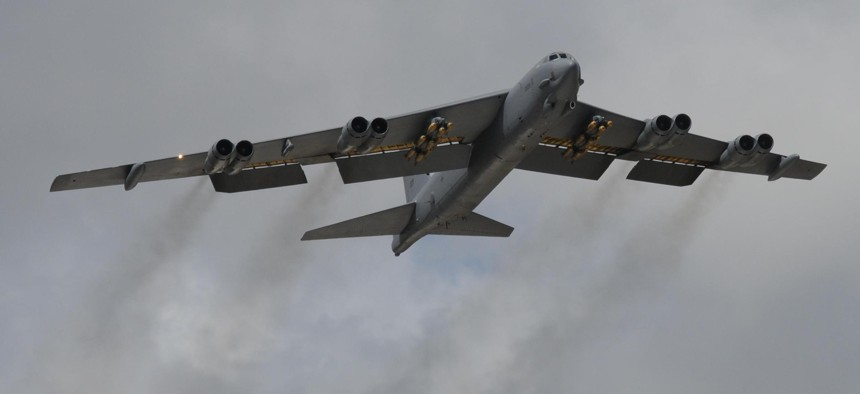A B-52 from Tinker Air Force Base in 2014.