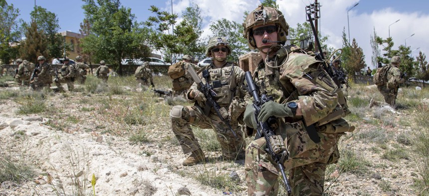 Advisors from the 2nd Security Force Assistance Brigade conduct an advisory mission in Afghanistan in May 2019.