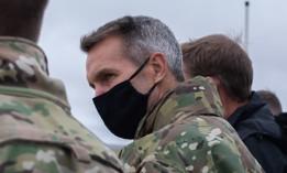 U.S. Army Gen. Richard D. Clarke, U.S. Special Operations Command commanding general, surveys an urban combat training complex at Melrose Air Force Range, N.M., September 9, 2020.