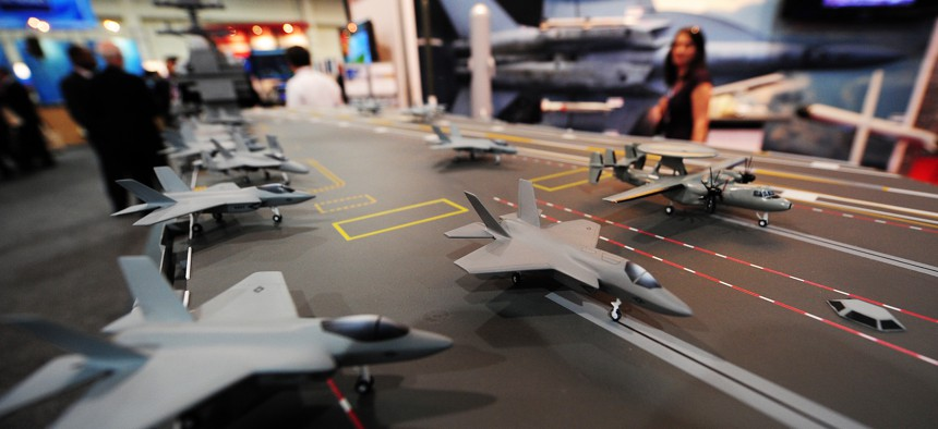 Exhibits at the Navy League's Sea-Air-Space Exposition in 2010.