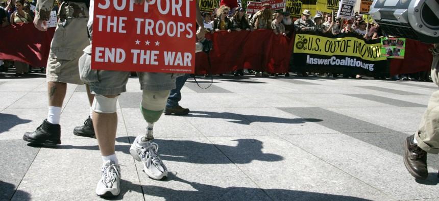 US Army veteran who was injured in Afghanistan in 2004