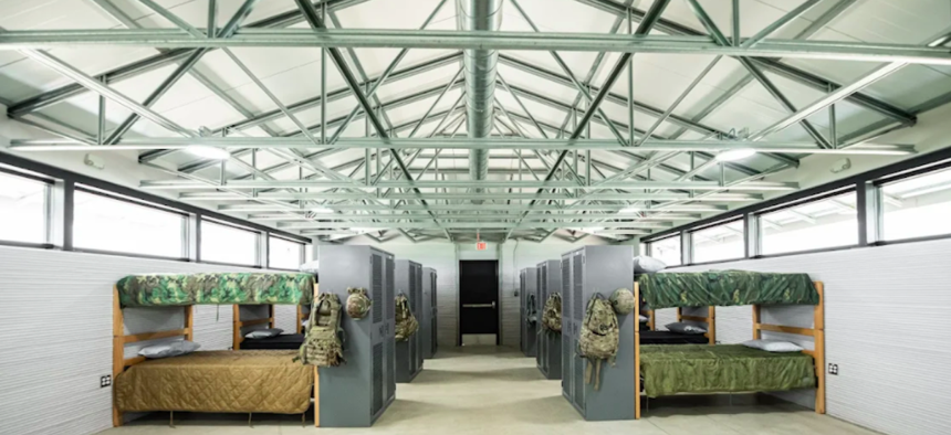 A 3-D printed military barracks unveiled in Texas this week becomes the largest 3-D printed building in North America.
