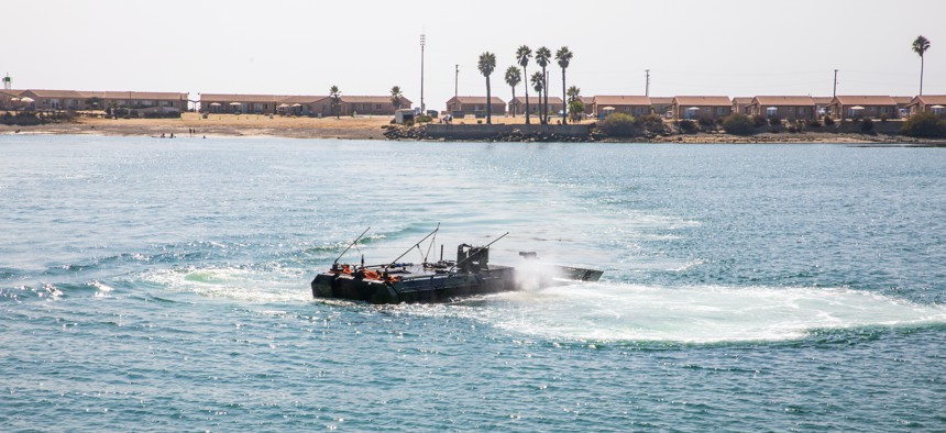 Marines conduct a capabilities display with the Amphibious Combat Vehicle at Camp Pendleton, California, Sept. 17, 2020.