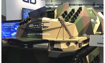 A prototype next-generation robotic combat vehicle from General Dynamics Land Systems, on display during the AUSA conference in Washington, D.C., October 12, 2021
