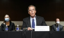 U.S. Ambassador to China nominee Nicholas Burns speaks during a hearing to examine his nomination before the Senate Foreign Relations Committee on Capitol Hill in Washington, Oct. 20, 2021.