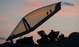 An F-35 test pilot prepares to commence night operations aboard USS Dwight D. Eisenhower, Oct. 8, 2015.