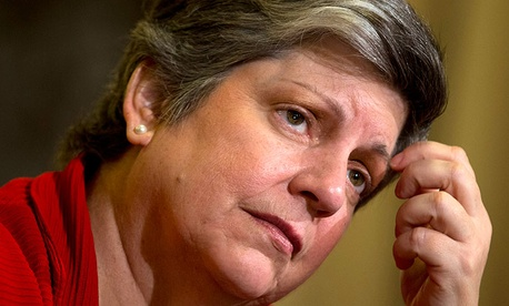 Homeland Security Secretary Janet Napolitano at a hearing