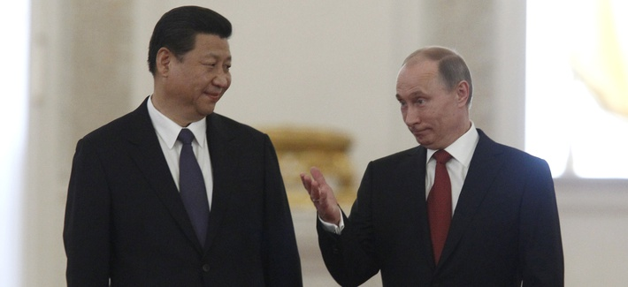 China's President Xi Jinping meeting with Russia's President Vladimir Putin