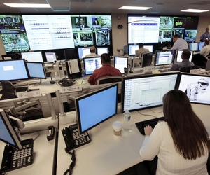 Analysts at the National Cybersecurity & Communications Integration Center prepare for an exercise