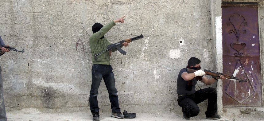 Syrian rebels on alert after hearing gunfire in Damascus