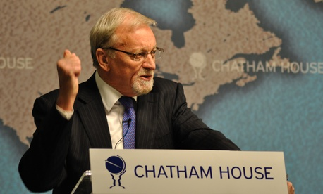 Gareth Evans speaking at Chatham house on the Responsibility to Protect doctrine in Libya
