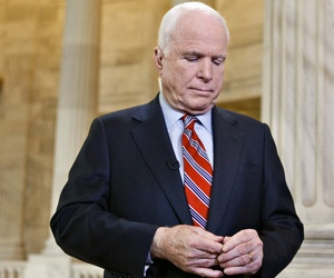 Sen. John McCain, R-Ariz. prior to discussing the crisis in Syria on national television