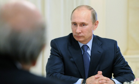 Russian President Vladimir Putin during a meeting in Sochi, Russia