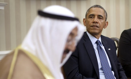 President Obama with Kuwait's Amir