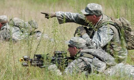 Georgia National Guard members train at Fort Stewart, Ga., in September 2013.