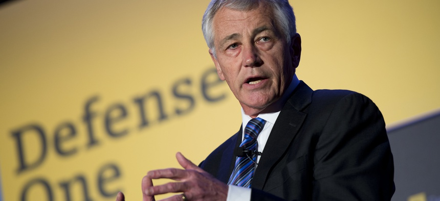 Secretary of Defense Chuck Hagel spoke about the use of military force at the Defense One Summit in Washington D.C., Nov. 14, 2013.