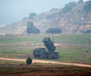 A battery of Patriot surface-to-air missiles stationed in Turkey