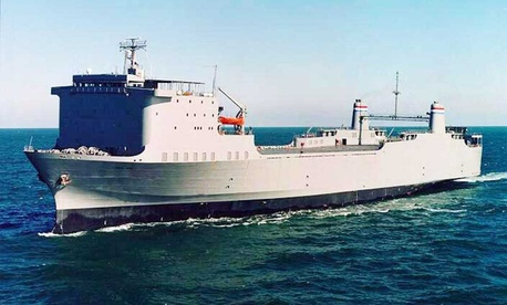 The US is modifying the MV Cape Ray, a Transportation Department ship, to neutralize Syria's chemical weapons. Her sister ship, the MV Cape Rise, is pictured here.