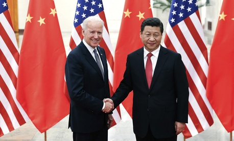 Chinese President Xi Jinping and Vice President Joe Biden at the Great Hall of the People in Beijing, China, on Wednesday.