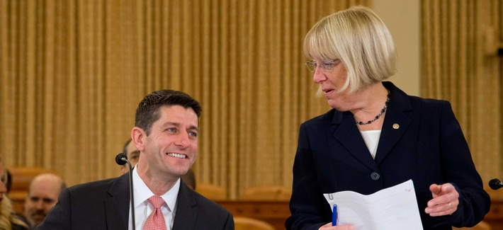 Rep. Paul Ryan, R-Wisc., and Sen. Patty Murray, D-Wash., the two lead budget negotiators in Congress