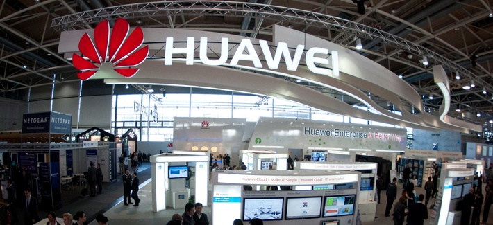 A Huawei booth at a telecommunications trade show in Hanover, Germany. Huawei, a Chinese company, recently came under congressional scrutiny after attempting a bid to enter the U.S. telecommunications market