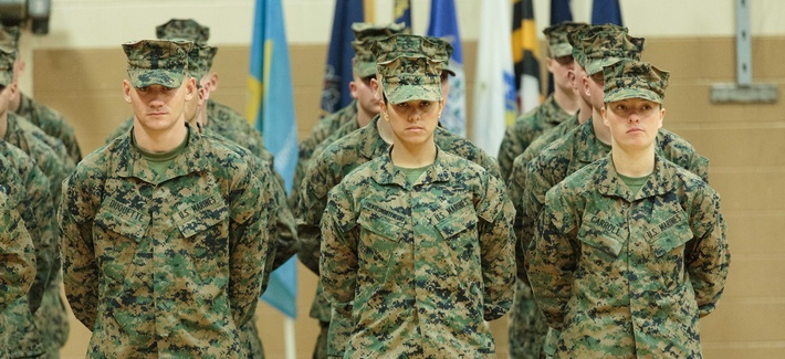 Pfc. Cristina Fuentes Montenegro, one of the first 3 women to graduate from the Infantry Training Battalion course