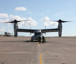 An MV-22 Osprey at MCAS Futenma