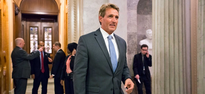"""""""The military is at a crossroads, fast growing benefits are threatening to displace investments in readiness of our armed services,"""" Sen. Jeff Flake, R-Ariz. said."""