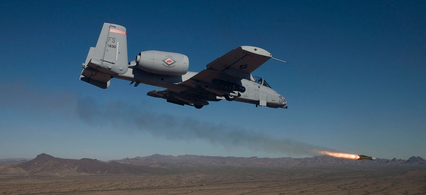 The Air Force's A-10 jet, one of the planes on the chopping block in the upcoming FY 2015 budget