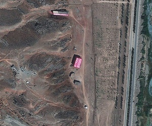 An August 2012 satellite image of the Parchin military complex in Iran