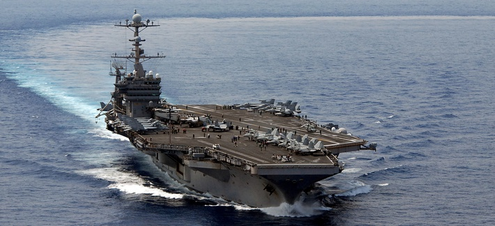 The USS George Washington, the carrier that could face the chopping block if further defense budget cuts come into place