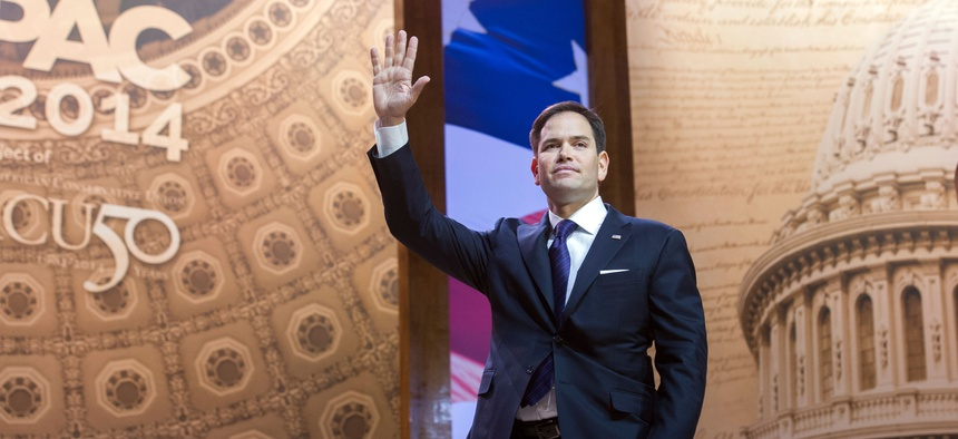 Sen. Marco Rubio, R-Fla., after speaking at the Conservative Political Action Committee conference