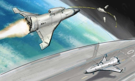 An artist's rendition of the XS-1 space plane