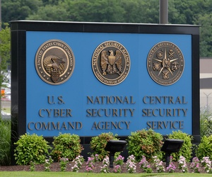 The view from just outside the National Security Agency campus in Fort Meade, Md., June 2013.