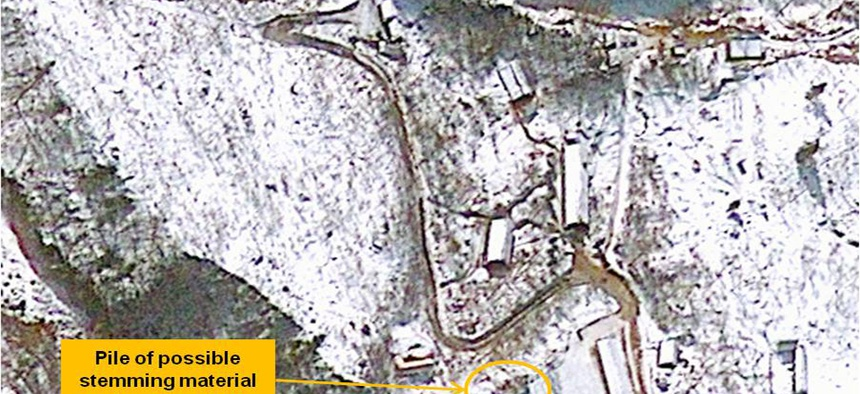 This Jan. 23. 2013 satellite image provided by GeoEye shows North Korea's Punggye-ri nuclear test facility where underground nuclear tests were conducted in 2006 and 2009.