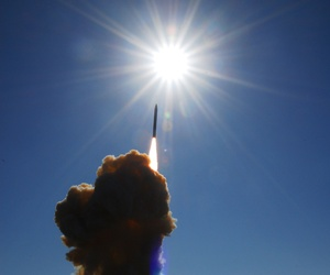 A ground based interceptor missile launches from Vandenberg Air Force Base, Calif., on December 5, 2008.