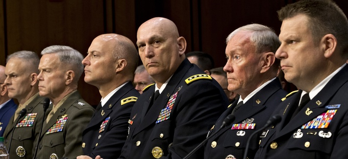 Army Chief of Staff Gen. Ray Odierno attends a hearing on Capitol Hill last June.