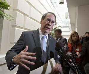 House Judiciary Committee Chairman Rep. Bob Goodlatte, R-Va., speaks with reporters at a press conference on Capitol Hill on July 10, 2013