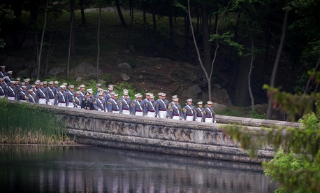 More than 1,000 cadets of Class of 2014 marched to Michie Stadium May 28, during the U.S. Military Academy's Graduation and Commissioning Ceremony in West Point, N.Y.