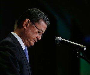 Secretary of Veterans Affairs Eric Shinseki speaks at a meeting of the National Coalition for Homeless Veterans in Washington, May 30, 2014.