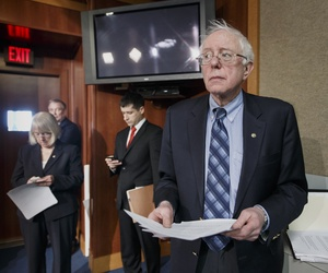 Sen. Bernie Sanders, I-Vt., after a bill to provide veterans benefits was defeated on February 27, 2014.