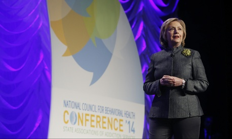Former Secretary of State Hillary Clinton speaks at the 2014 National Council for Behavioral Health Conference on May 6, 2014.
